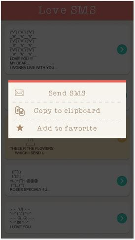 Su dung SMS for love