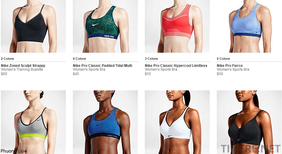 Các dòng Nike Pro Bra