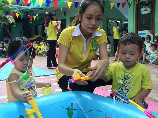 bé học kỹ năng sống tại các trường mẫu giáo ở quận 1