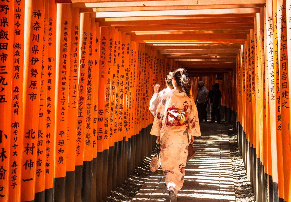 đền Fushimi Inari vui chơi ở Kyoto