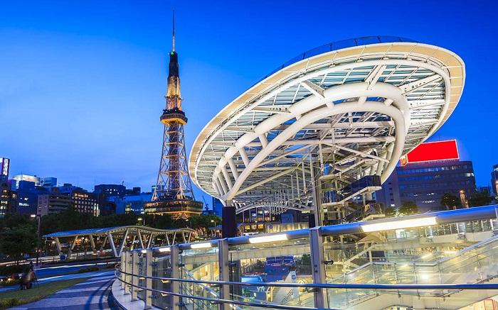 tham quan tháp truyền hình Nagoya